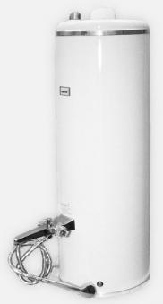 Badeofen Kessel Walmü / Wittigsthal Typ WW drucklos weiß mit Armatur Bild 1