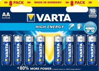VARTA High Energy AA 1,5 Volt 8 Stück