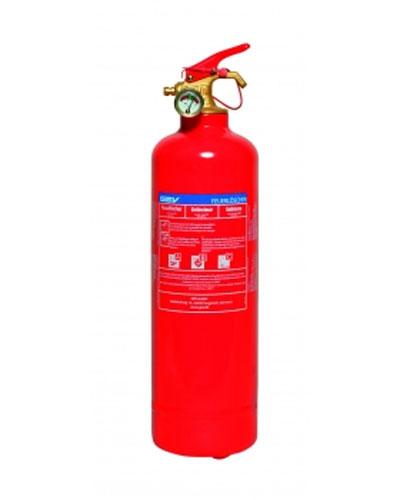 Pulverlöscher / Feuerlöscher MFZL1TG  1kg für Brandklassen A/B/C rot Bild 1