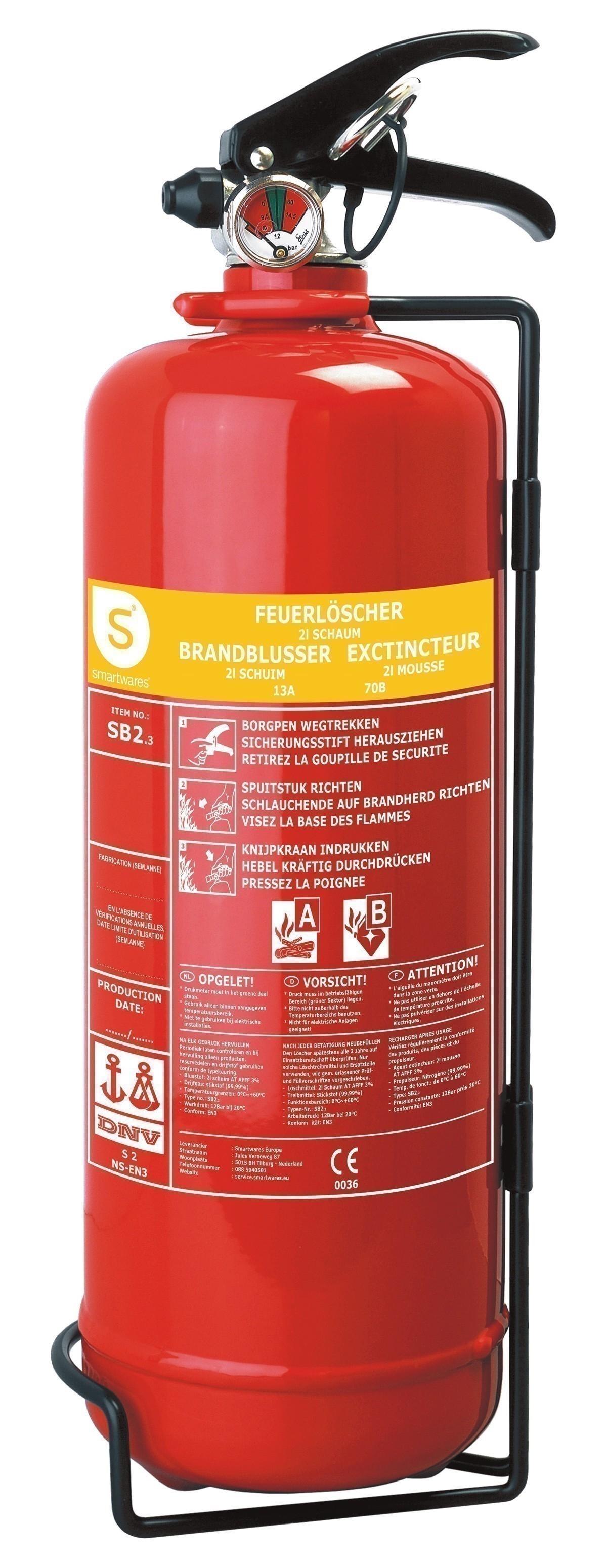 Schaumlöscher / Feuerlöscher Smartwares SB2 2Liter Bild 1
