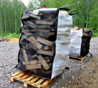 Big Bag für Brennholz 90x90x140cm Bild 1