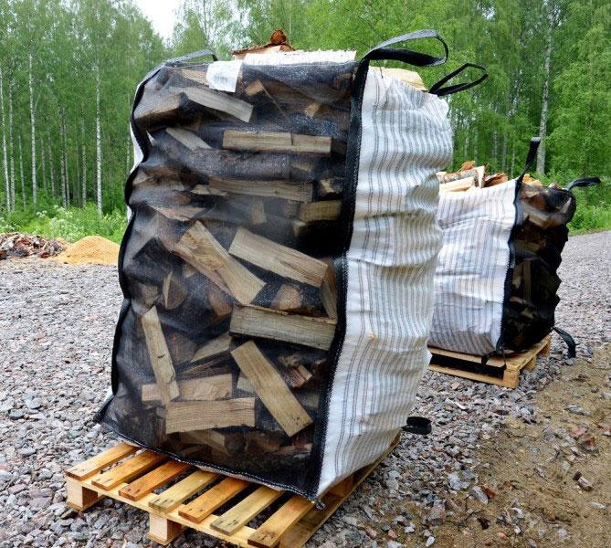 brennholz sack big bag 1 5 m bei. Black Bedroom Furniture Sets. Home Design Ideas