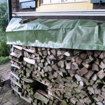 Holz-Abdeckplane / Brennholzabdeckung Noor 1,5x6m 210g/m² Bild 1