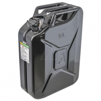 Metallkanister / Kraftstoffkanister 20 Liter schwarz Bild 1
