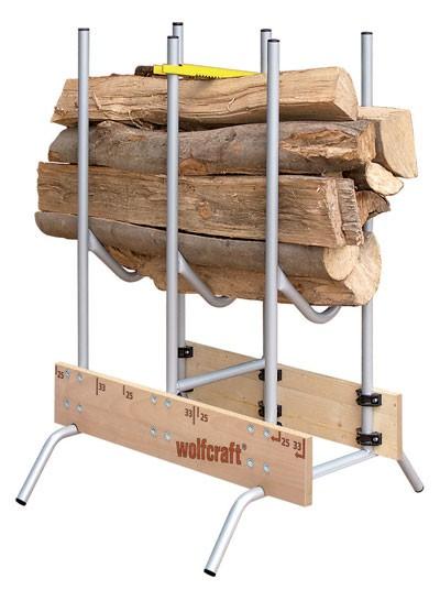 Sägebock Rundrohr / Buchenholz Wolfcraft klappbar 83 x 71 x 115 cm Bild 1