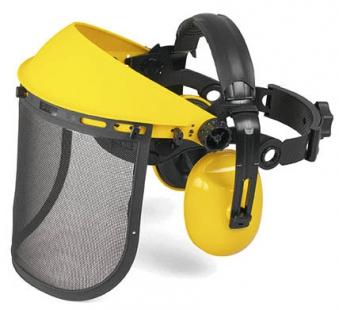 McCulloch Gehörschutz mit Netz-Visier PRO002 Bild 1