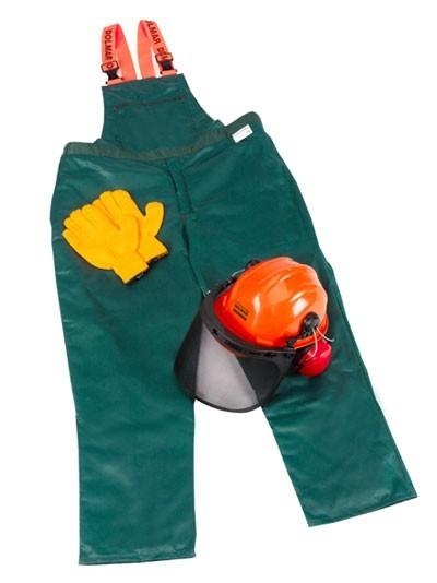 Schnittschutzhose Dolmar Set mit Schutzhelm und Handschuhen Gr. 58/60 Bild 1