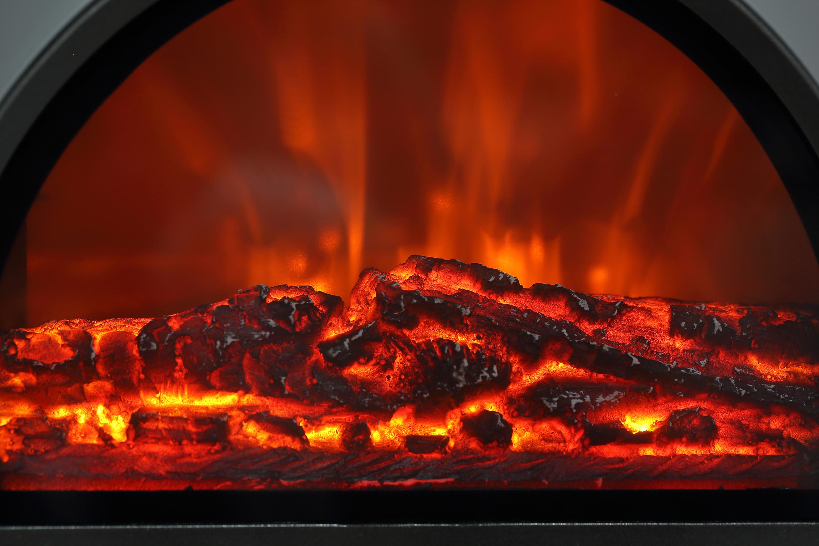El Fuego Elektrokamin / Dekokamin Frankfurt silber 1500W Bild 4