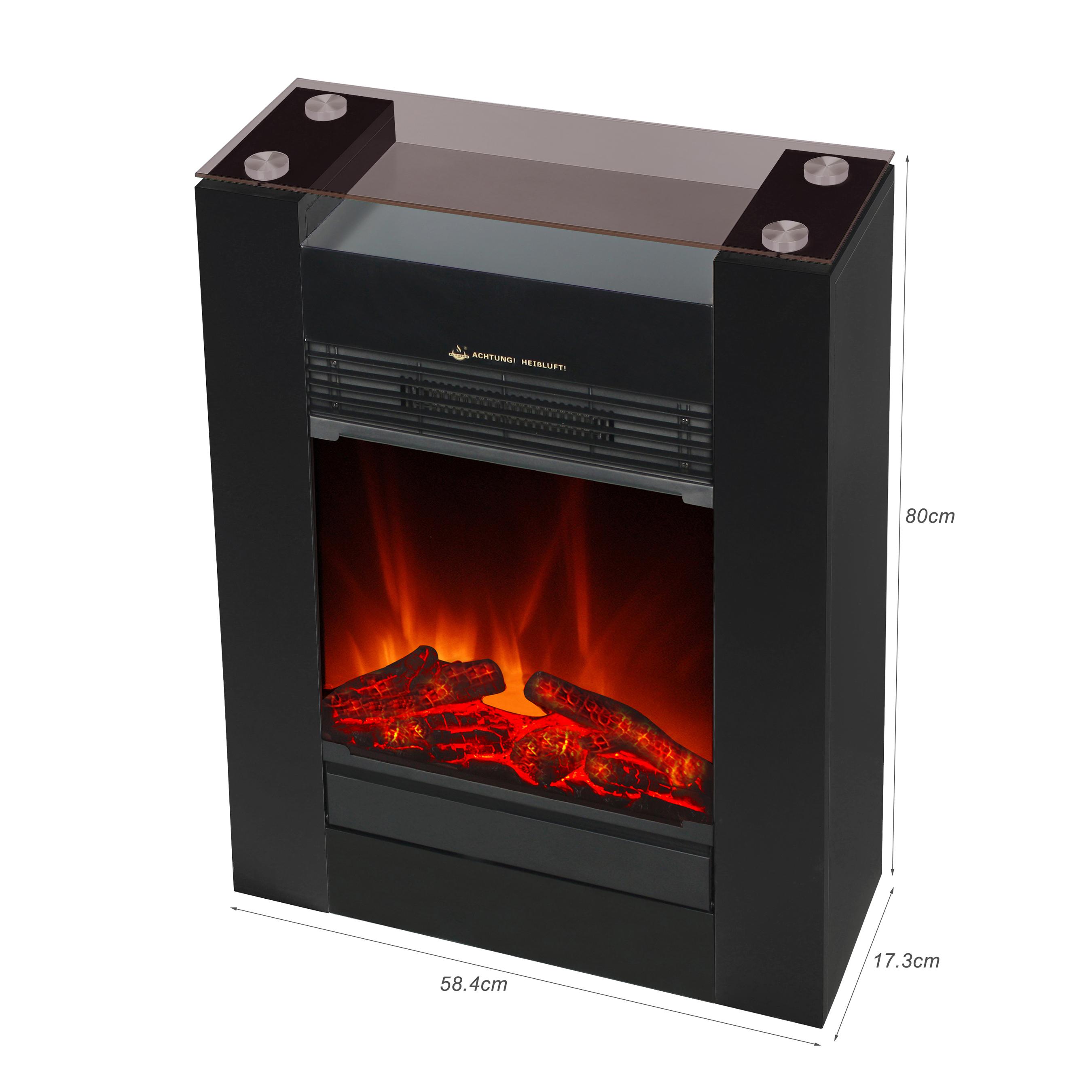 El Fuego Elektrokamin / Dekokamin Tessin 1800W schwarz Bild 4