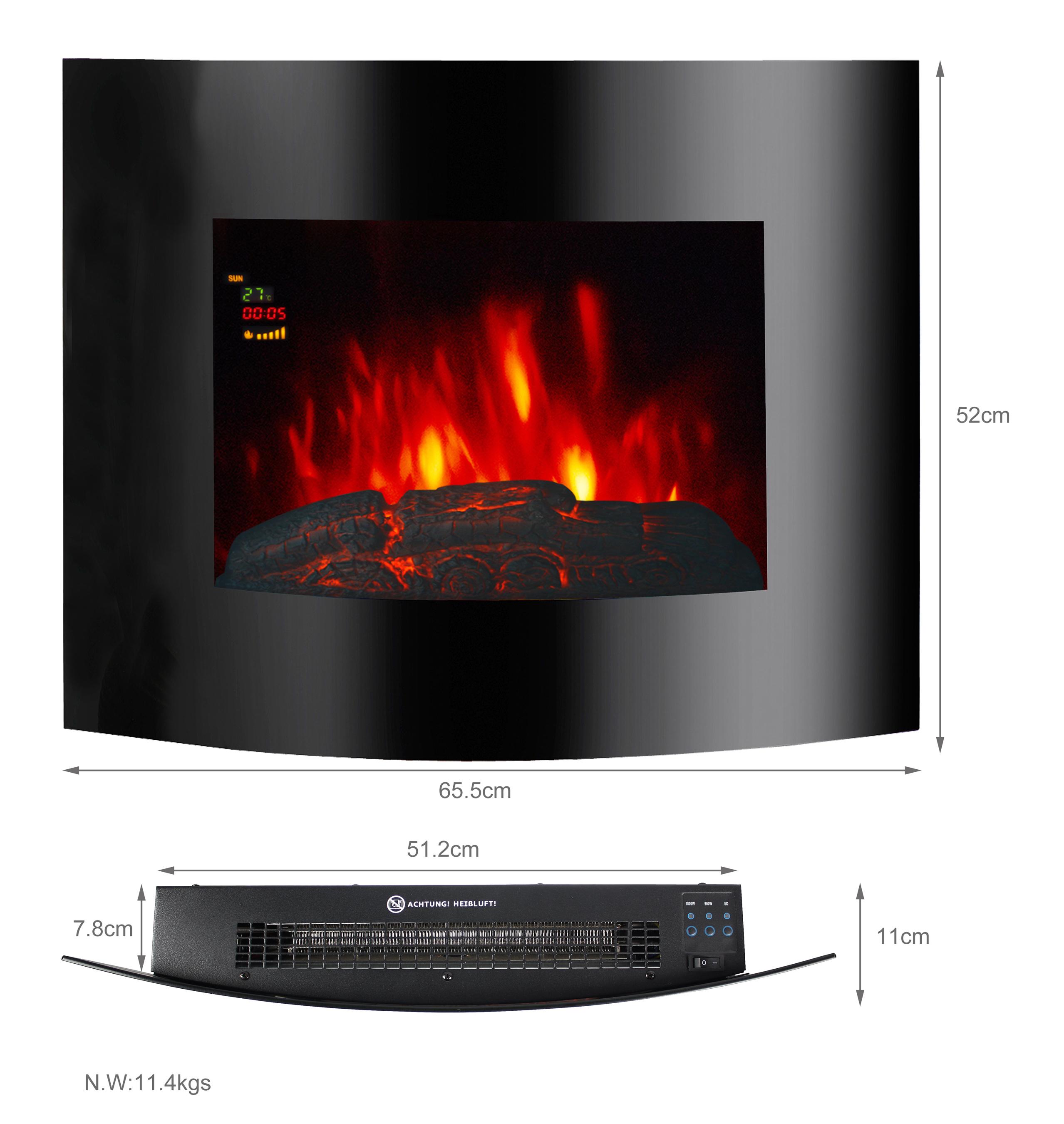 El Fuego LED Elektrokamin / Dekokamin Aarau 1800W Bild 4