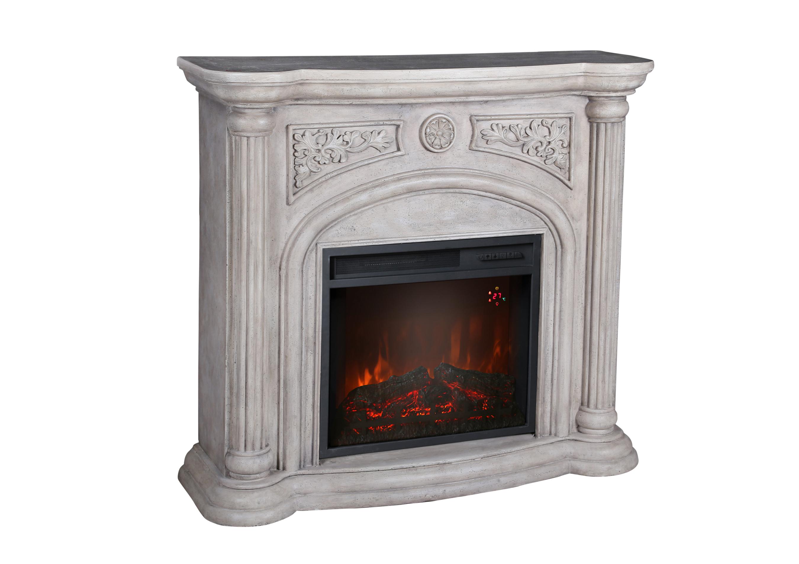 El Fuego LED Elektrokamin / Dekokamin Venedig 1800W weiß marmoriert Bild 2
