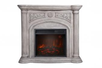 El Fuego LED Elektrokamin / Dekokamin Venedig 1800W weiß marmoriert Bild 1