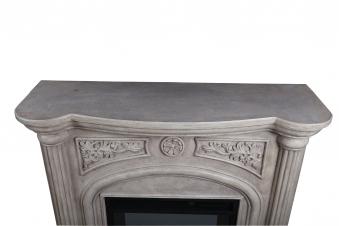 El Fuego LED Elektrokamin / Dekokamin Venedig 1800W weiß marmoriert Bild 3