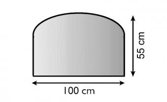 Funkenschutz Metallvorlegeplatte Lienbacher schwarz Segmentb. 100x55cm Bild 1