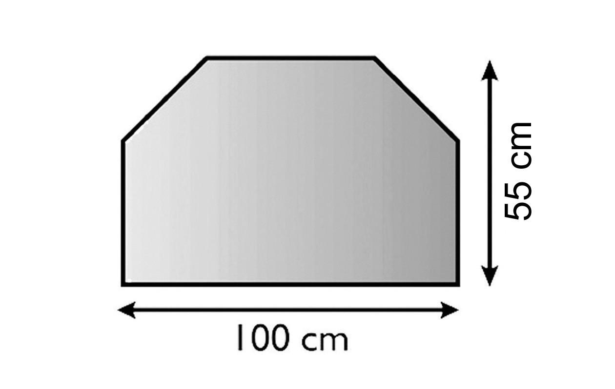 Funkenschutz Metallvorlegeplatte Lienbacher schwarz Trapez 100x55cm Bild 1