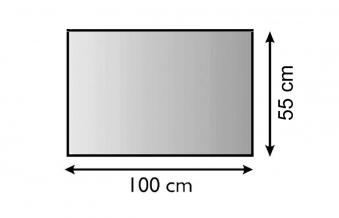 Funkenschutz Metallvorlegeplatte Lienbacher silber Rechteck 100x55cm Bild 1
