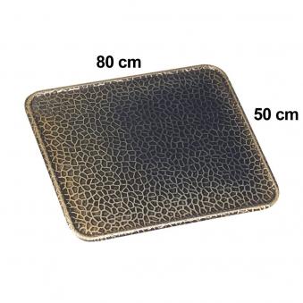 Funkenschutzplatte / Bodenblech KaminoFlam Messing gehämmert 50x80cm Bild 1
