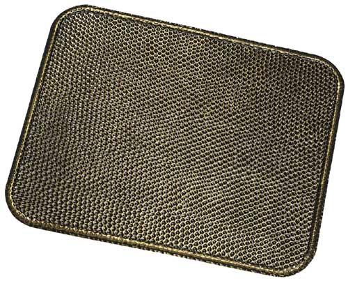 Funkenschutzplatte / Bodenblech Messingoptik gehämmert 50 x 40 cm Bild 1