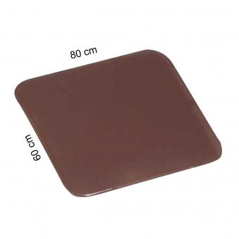Funkenschutzplatte / Ofenblech KaminoFlam braun pulverbesch. 60x80cm Bild 1