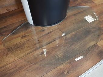 Bartz Glasvorlegeplatte / Funkenschutzplatte Segment 1280 x 720mm Bild 1
