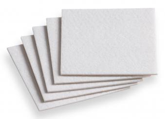 Filzgleiter / Möbelgleiter / Filzzuschnitt 10 x 10 cm weiß Bild 1