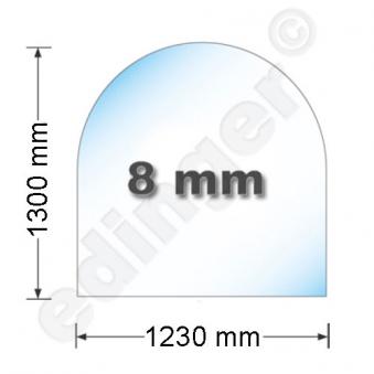 Funkenschutzplatte Bodenplatte Hark aus Glas 1230x1300mm Rundbogen Bild 1