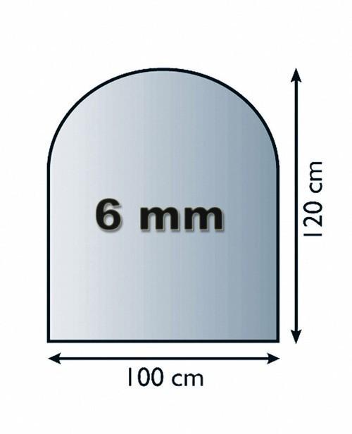 Funkenschutzplatte Glas 6mm Lienbacher halbrund 100x120cm Bild 1