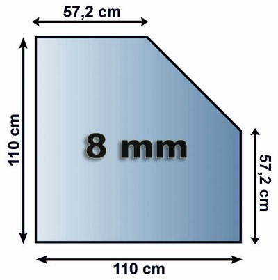 Funkenschutzplatte Glas 8mm Lienbacher 5eck 1100x1100mm Bild 1
