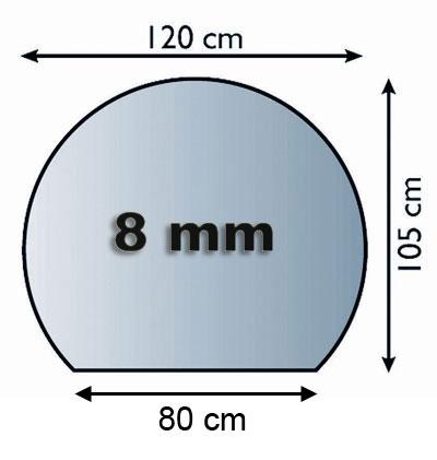 Funkenschutzplatte Glas 8mm Lienbacher Kreisabschnitt 1200x1050mm Bild 1