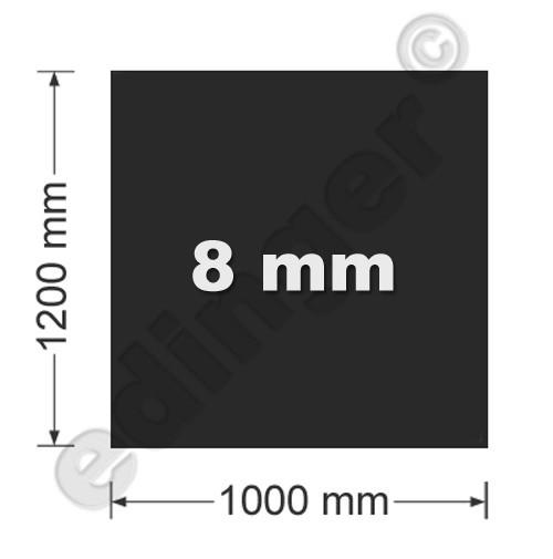Funkenschutzplatte Glas 8mm Lienbacher Quadrat schwarz 1000x1200mm Bild 1