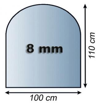 Funkenschutzplatte Glas 8mm Lienbacher Rundbogen 1000x1100mm Bild 1
