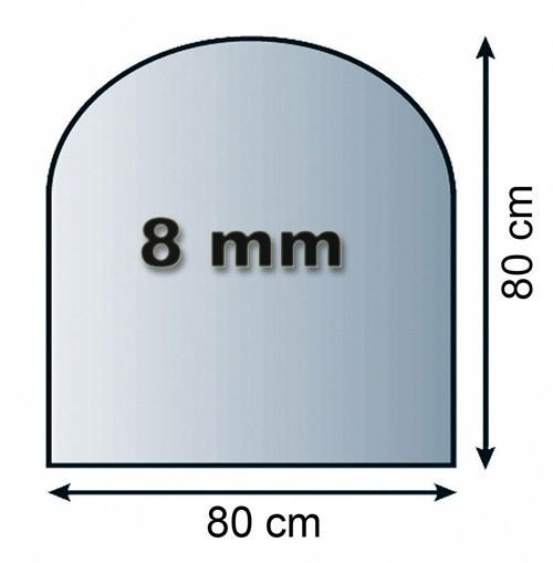 Tür Rundbogen Glas ~ Funkenschutzplatte Glas 8mm Lienbacher Rundbogen 80x80cm Bild