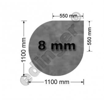 Funkenschutzplatte Glas 8mm Lienbacher Speckstein Tropfen 1100x1100mm Bild 1