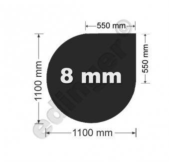 Funkenschutzplatte Glas 8mm Lienbacher Tropfen schwarz 1100x1100mm Bild 1