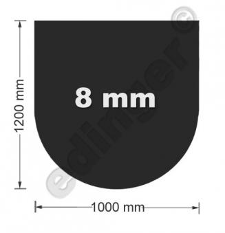 Funkenschutzplatte Glas 8mm Lienbacher halbrund schwarz 1000x1200mm Bild 1
