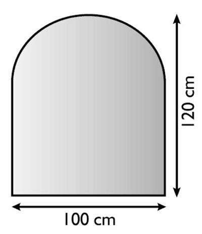 Funkenschutzplatte Metall Lienbacher anthrazit 120x100cm halbrund Bild 1