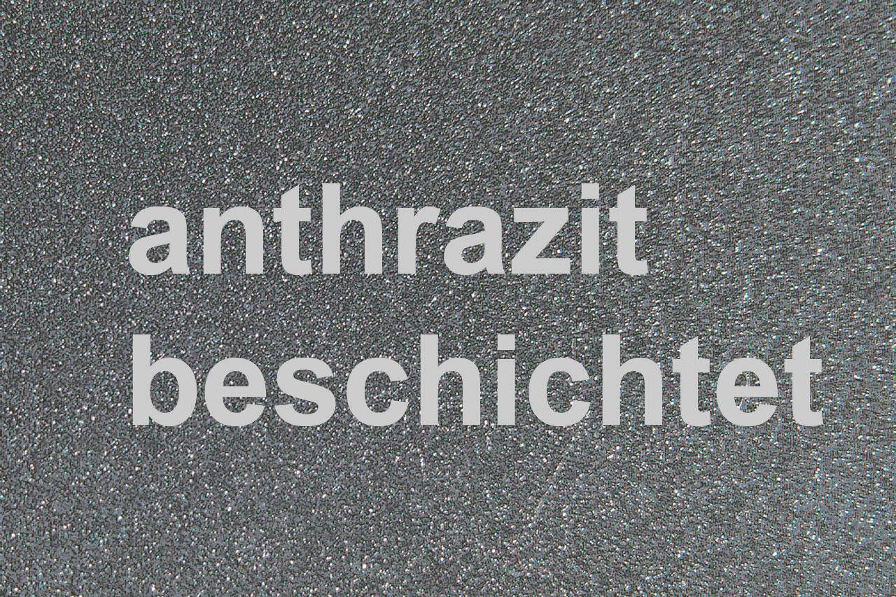 Funkenschutzplatte Metall Lienbacher anthrazit 120x100cm halbrund Bild 2