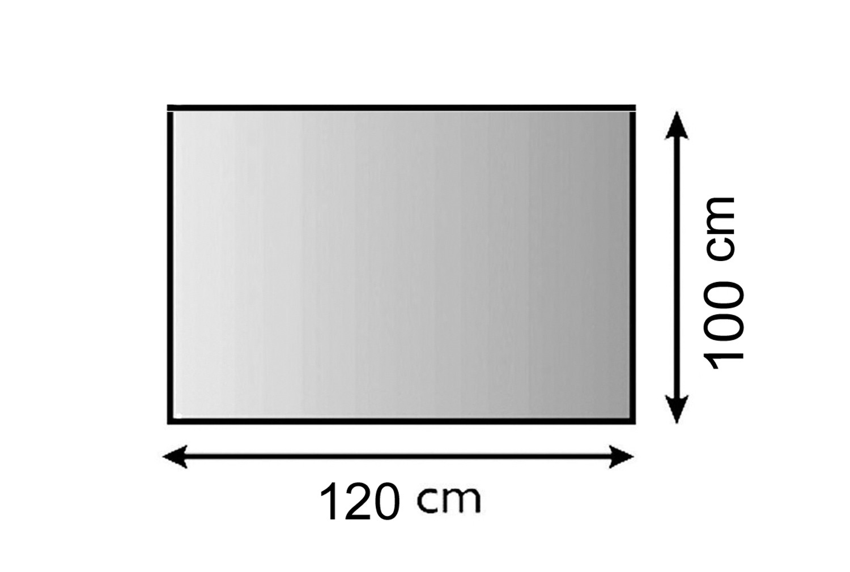 Funkenschutzplatte Metall Lienbacher anthrazit 4-Eck 120x100cm Bild 1
