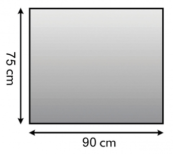 Funkenschutzplatte Metall Lienbacher anthrazit 4-Eck 90x75cm Bild 1
