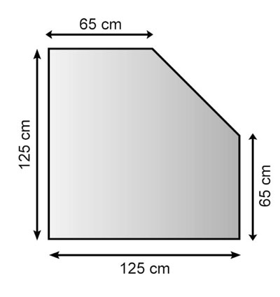 Funkenschutzplatte Metall Lienbacher anthrazit 5-Eck 125x125cm Bild 1