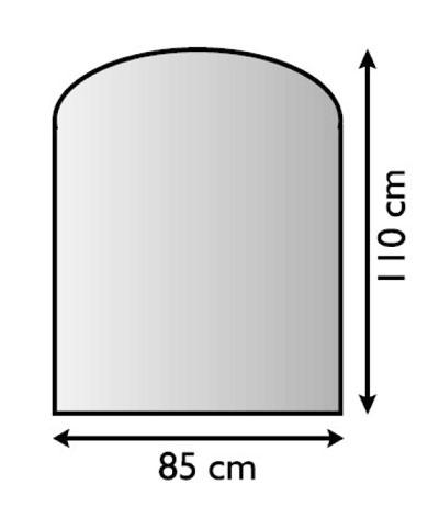 Funkenschutzplatte Metall Lienbacher anthrazit Segmentbogen 110x85cm Bild 1