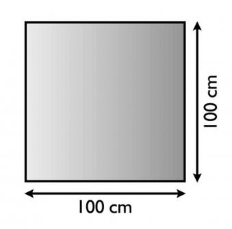 Funkenschutzplatte / Bodenblech Lienbacher schwarz 4-Eck 100x100cm Bild 1