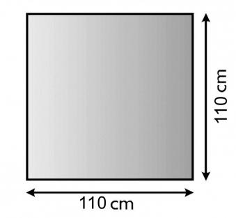 Funkenschutzplatte / Bodenblech Lienbacher schwarz 4-Eck 110x110cm Bild 1