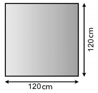 Funkenschutzplatte / Bodenblech Lienbacher schwarz 4-Eck 120x120cm Bild 1