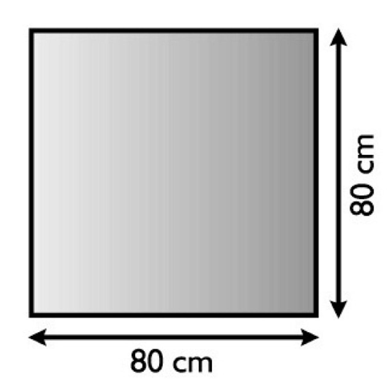 Funkenschutzplatte / Bodenblech Lienbacher schwarz 4-Eck 80x80cm Bild 1