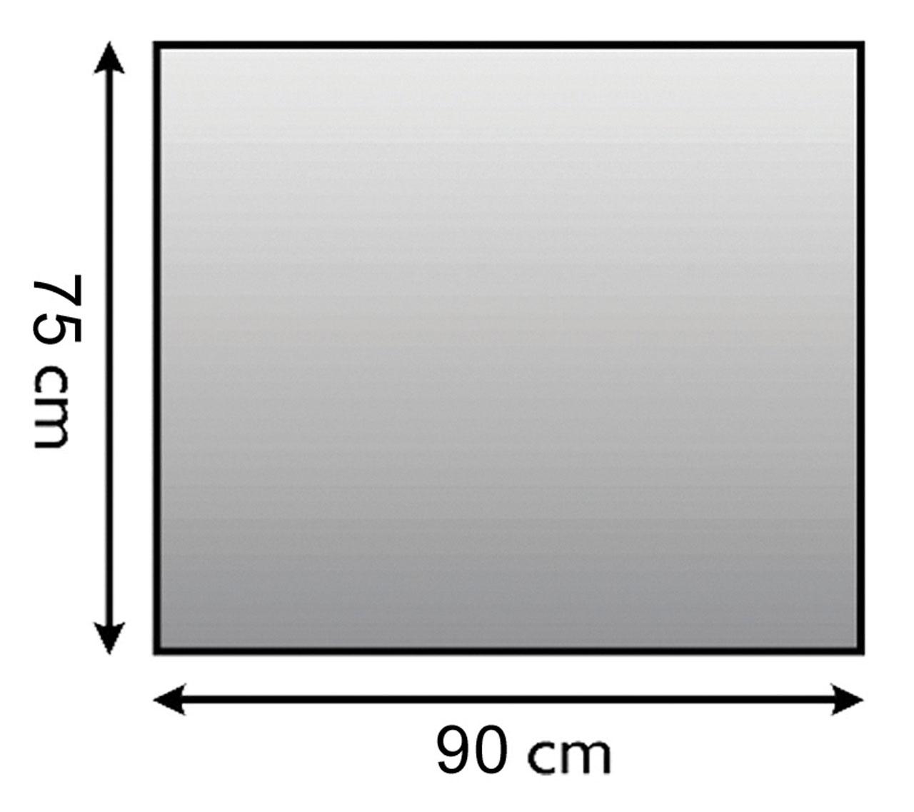 Funkenschutzplatte / Bodenblech Lienbacher schwarz 4-Eck 90x75cm Bild 1