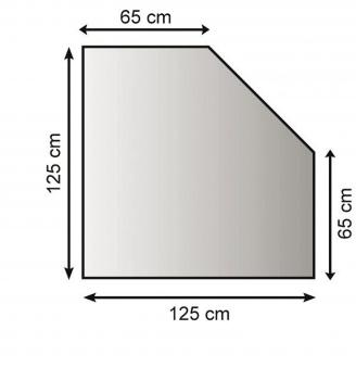 Funkenschutzplatte / Bodenblech Lienbacher schwarz 5-Eck 125x125cm Bild 1