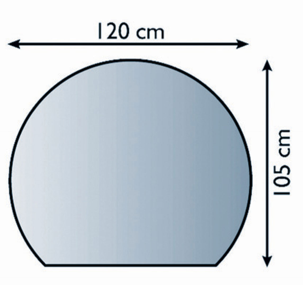 Funkenschutzplatte / Bodenblech Lienbacher schwarz Kuppel 120x105cm Bild 1