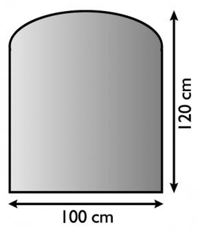 Funkenschutzplatte / Bodenblech Lienbacher schwarz Segmentb. 100x120cm Bild 1