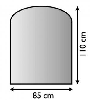 Funkenschutzplatte / Bodenblech Lienbacher schwarz Segmentb. 85x110cm Bild 1